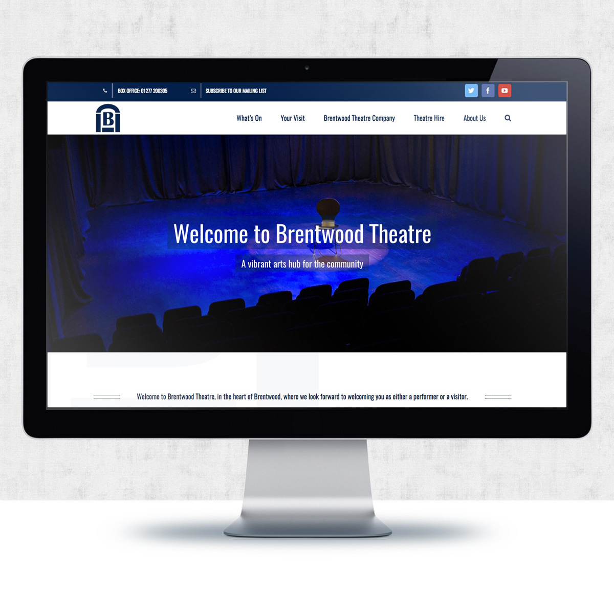 Brentwood Theatre Website Design | The Digital Moose
