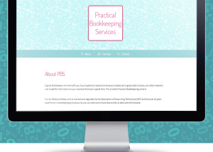 Simple 1 page website | Practical Bookkeeping Services | The Digital Moose